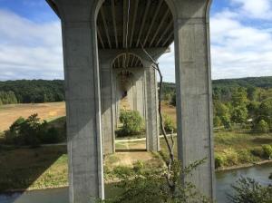 Huge bridge over the valley