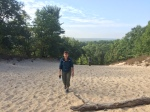 Up the first dune