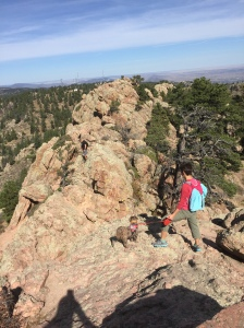 Final edgy stretch across Horse Tooth Mountain