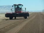 Large equipment grading the Midas Road