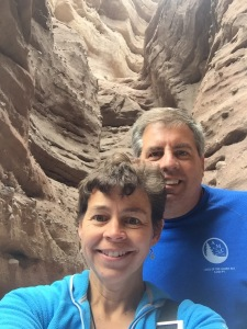 Inside the slot canyon- really cool
