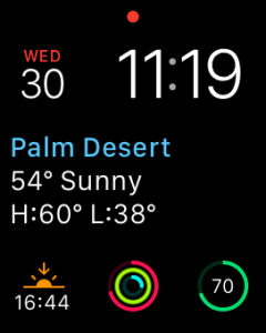 My current watch face