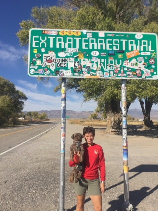 At the start of state road 375, a.k.a. the Extraterrestrial highway