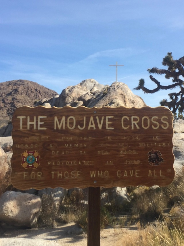 A view towards the Mojave Cross